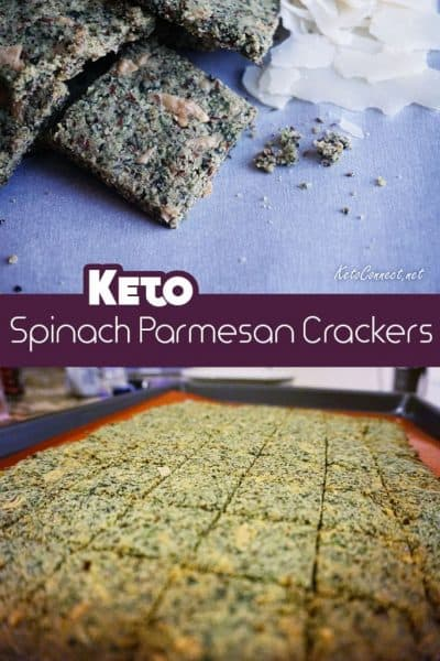 A great low carb cracker that packs in a few servings of veggies!