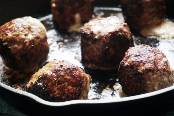 cheese-meatballs-skillet