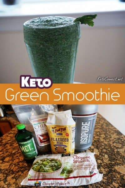 This fabulous 5 ingredient Keto Green Smoothie recipe packs 40g of protein and just 3g Net Carbs. Serve as described, or add in your favorite nuts, nut butters, or cocoa powders!