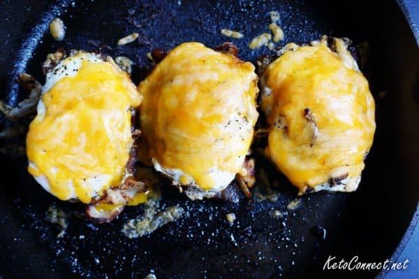 low carb breakfast sandwich overhead