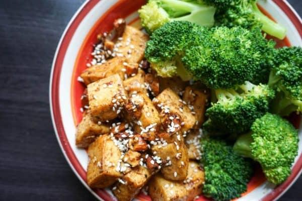 almond tofu overhead