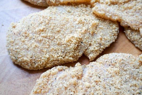 caprese chicken breaded