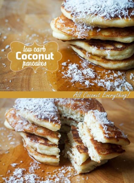 low carb coconut pancakes pinterest
