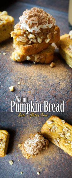 keto pumpkin bread pinterest
