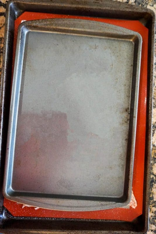 baked chicken skin pan on pan