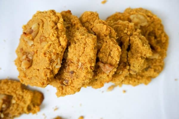 gluten free pumpkin cookies stacked