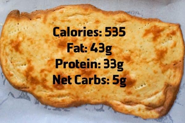 keto pizza fathead nutrition