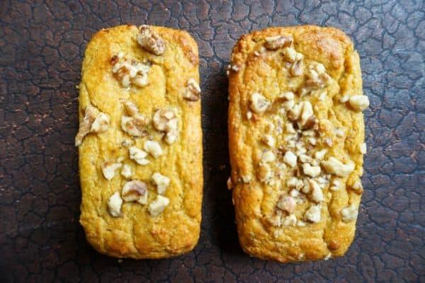 keto pumpkin bread loaves