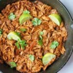 mexican shredded chicken lime overhead
