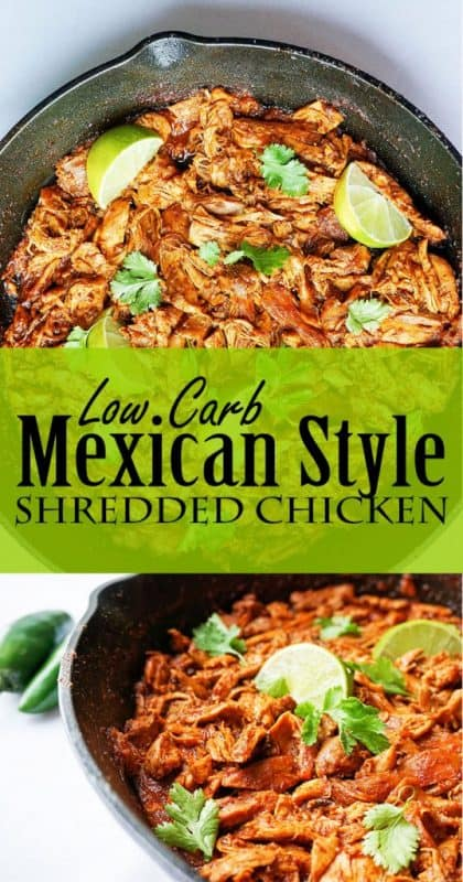 mexican shredded chicken pinterest