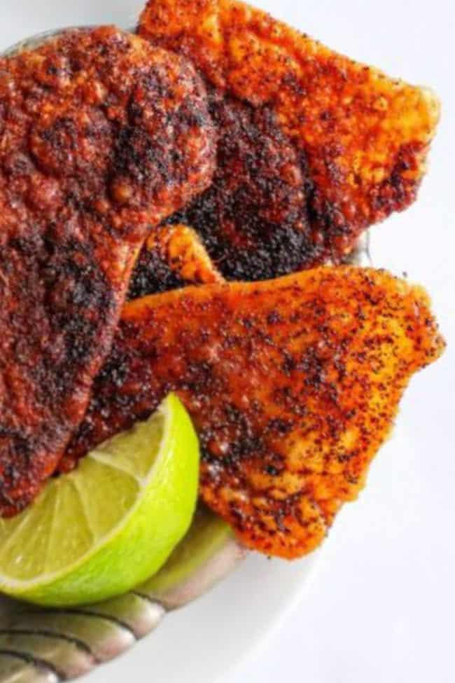 baked chicken skin recipe