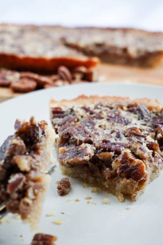 This low carb pecan pie recipe has finally been perfected, it has a buttery crust and a sweet and sticky pecan filling. Can be served with whipped cream or low carb vanilla ice cream for a perfect keto friendly dessert!