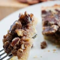 low carb pecan pie fork