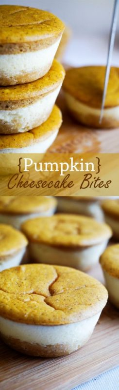 Pumpkin Cheesecake Cupcakes - Fall summarized in 3 layers of deliciousness.
