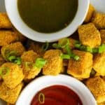 tofu nuggets overhead
