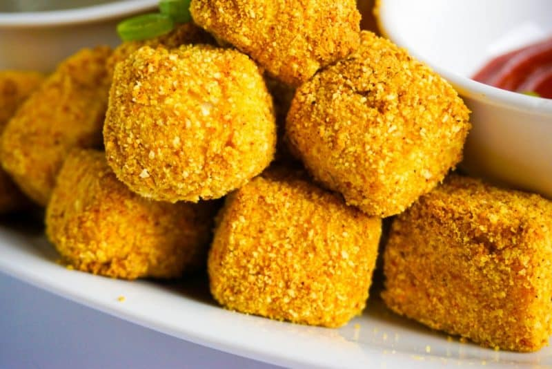 tofu nuggets side angle