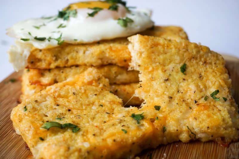 cauliflower hash browns side broken