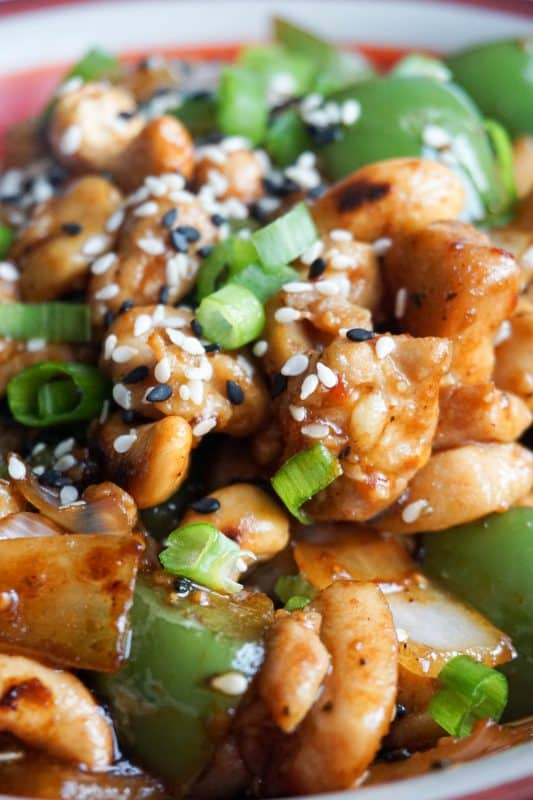 easy cashew chicken close