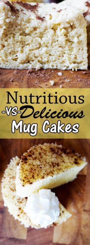 Two Varieties of Low Carb Mug Cakes - Delicious vs. Nutritious!
