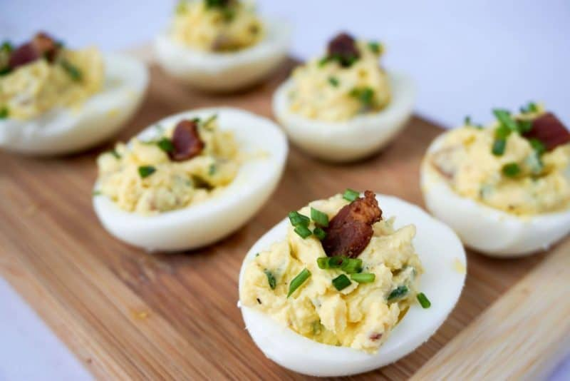 simple deviled eggs angle
