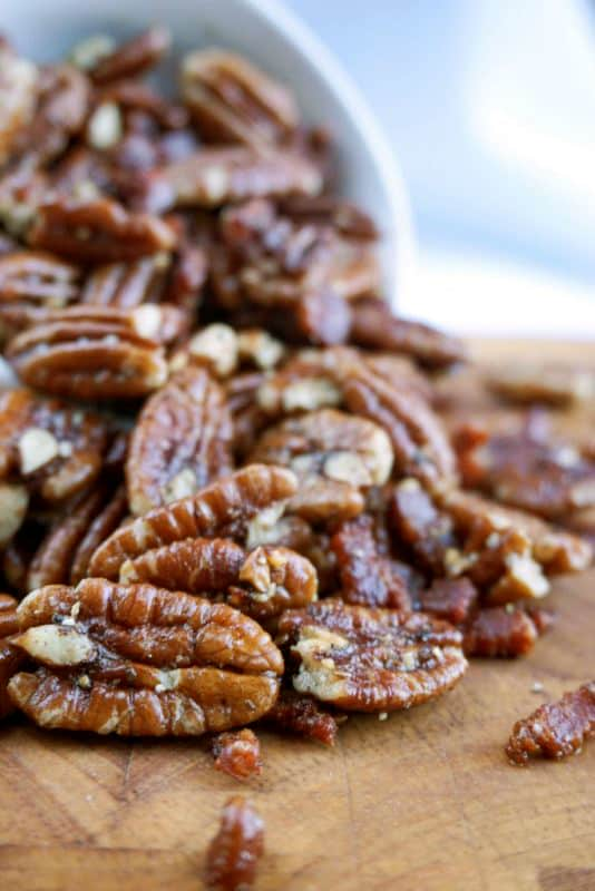 pecans that have been toasted with bacon