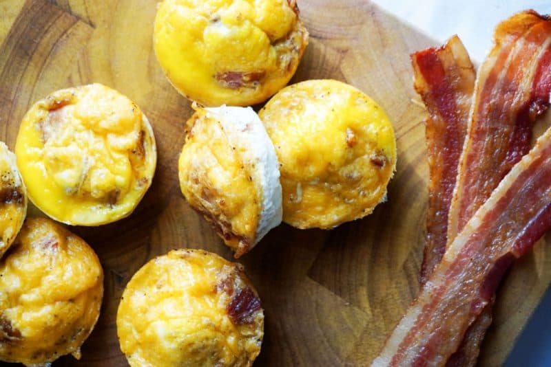 bacon egg cups horizontal