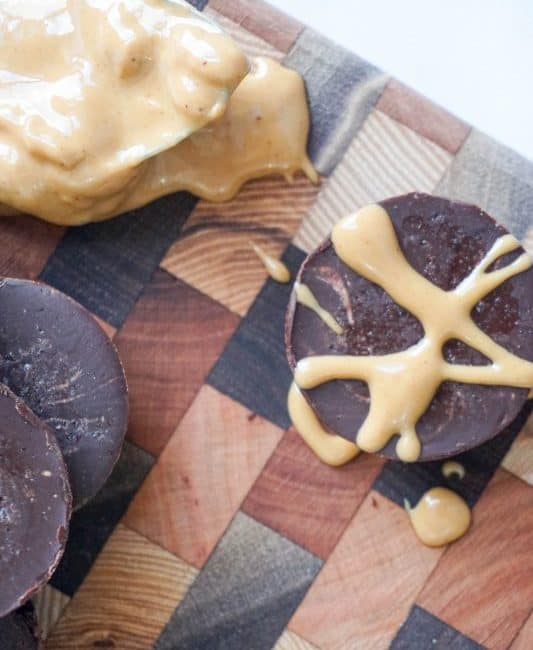 chocolate peanut butter fat bombs overhead pb