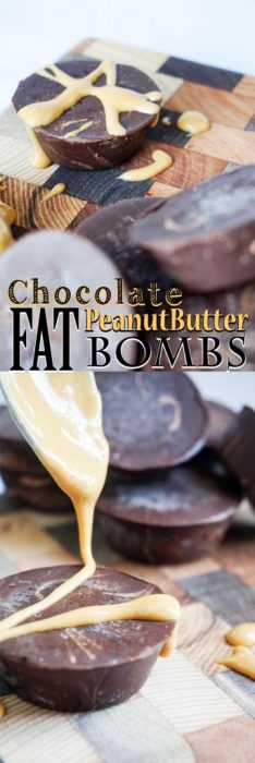 keto Chocolate Peanut Butter Fat Bombs! Intense dark chocolate fudge flavor!