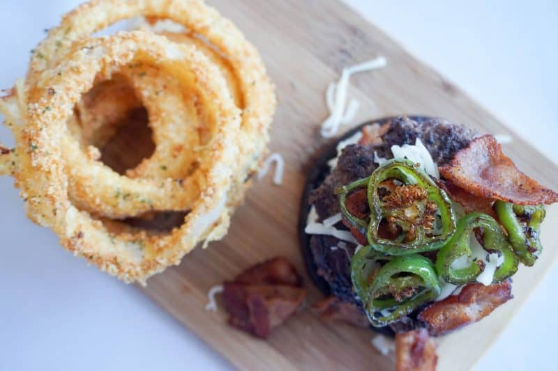 jalapeno burger overhead horizontal
