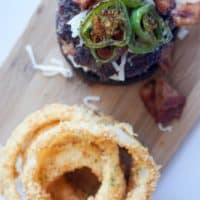 jalapeno burger overhead vertical