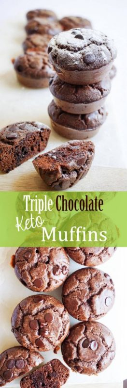 Low carb chocolate muffins that pack a rich chocolate flavor - Keto!