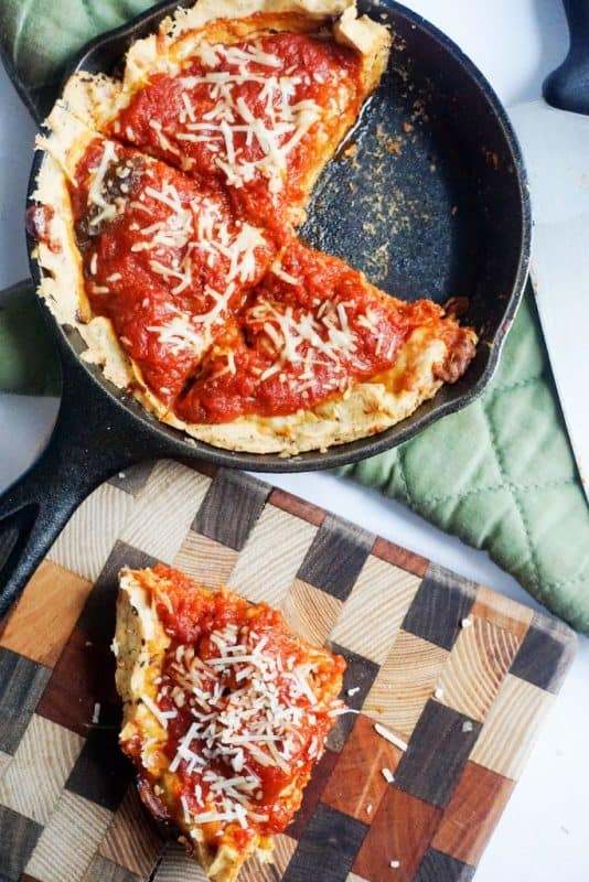 This no carb pizza crust might just be the best keto pizza crust you've ever tried. Truly amazing!
