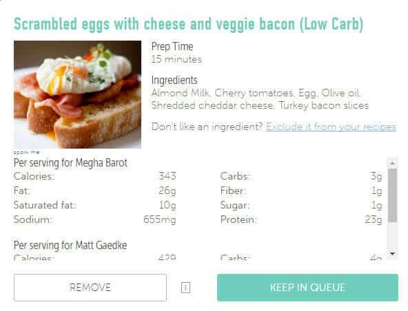 platejoy recipe nutrition