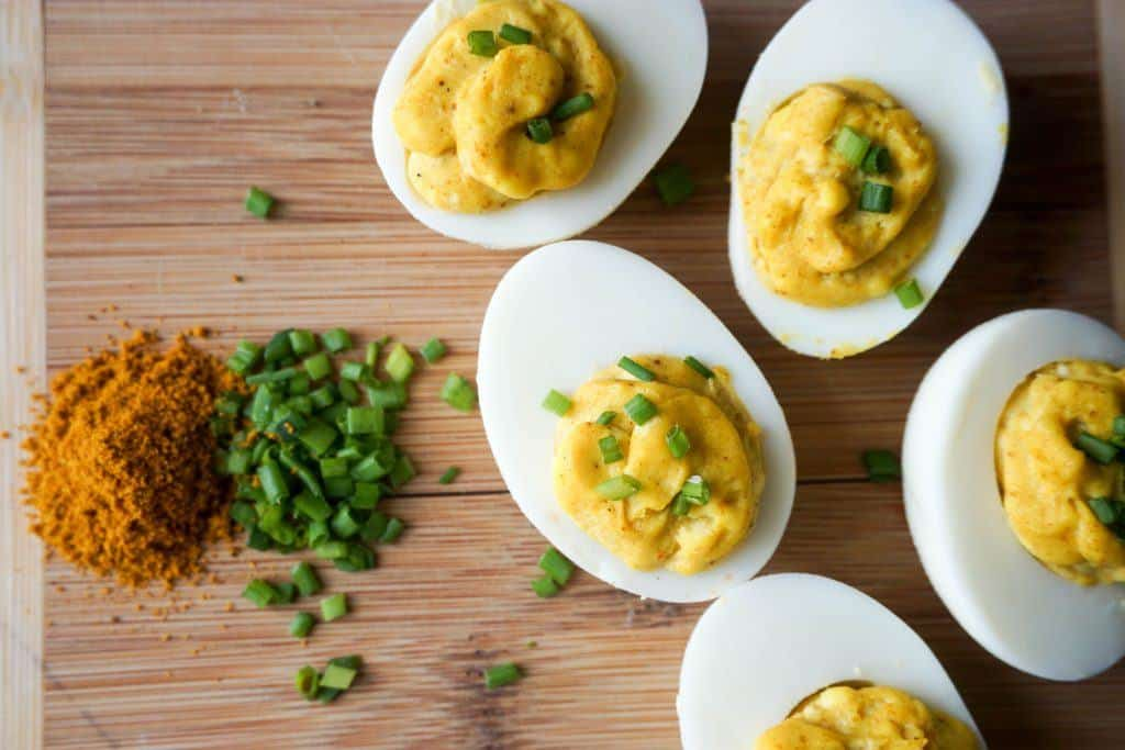 curried deviled eggs horizontal