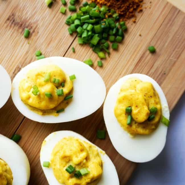 curried deviled eggs overhead final