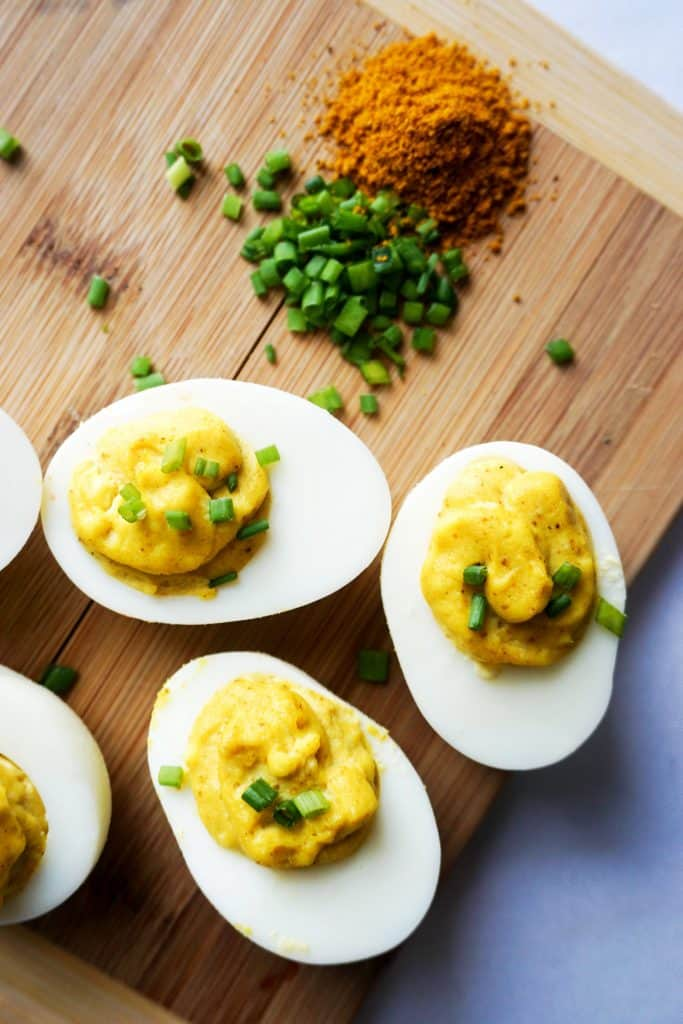 deviled eggs are a party classic, these simple keto deviled eggs have a high fat content and low carbs!
