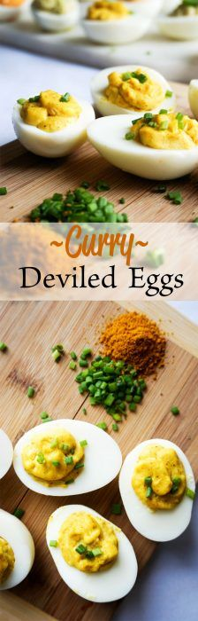 Curry Deviled Eggs! A fast and easy way to add some flavor to your typical deviled eggs!