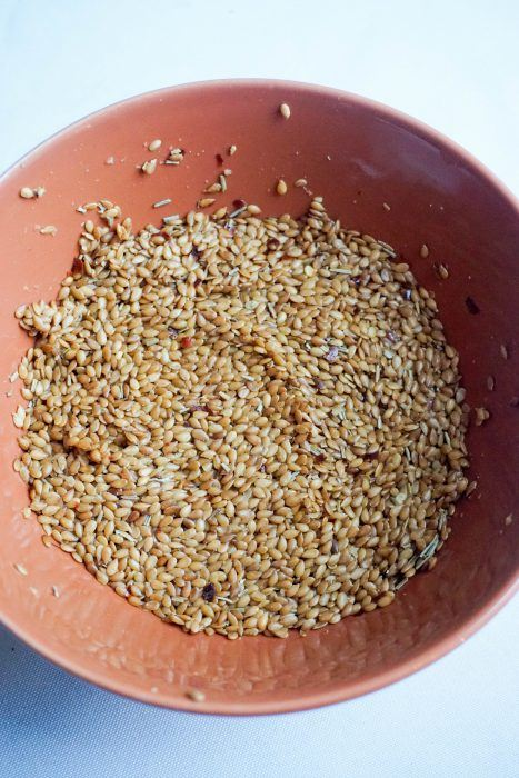 flax seed crackers recipe bowl