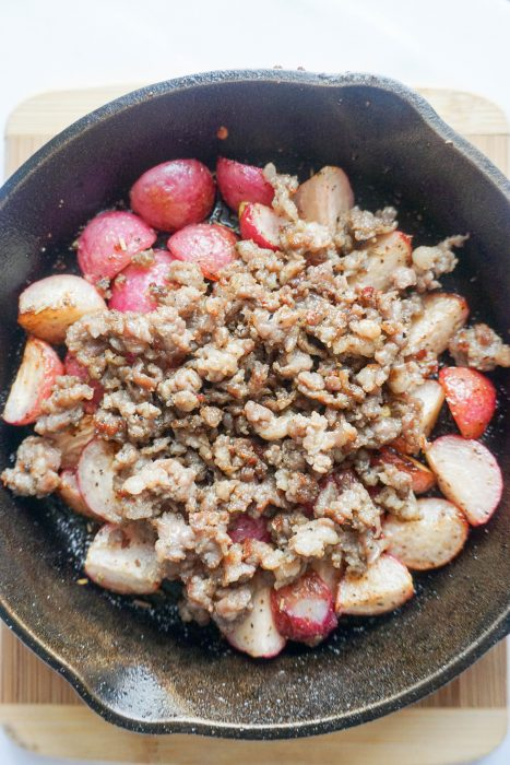 low carb breakfast bowl sausage