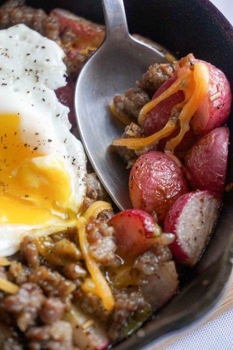 low carb breakfast bowl spoon