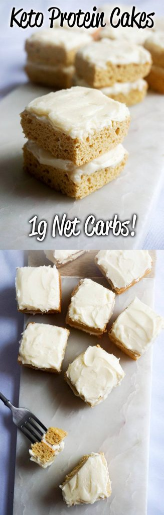 Protein Cake! High fat keto protein cakes that clock in at just 1g Net Carbs each!