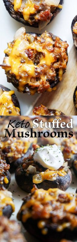 Simple Sausage Stuffed Mushrooms - Keto, and Low Carb!
