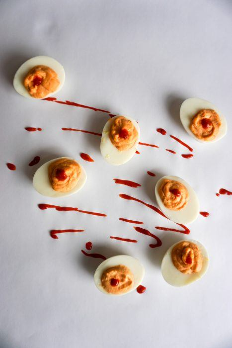 Keto Sriracha Deviled Eggs! Add some spice to your life!