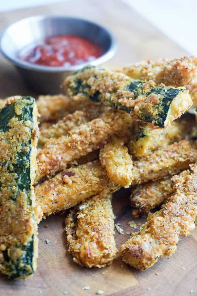 zucchini fries close