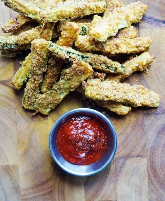 zucchini fries final overhead