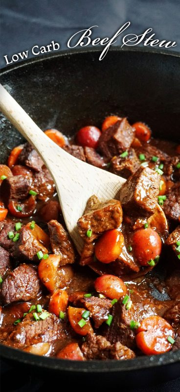 Our Low Carb Beef Stew uses radishes and short rib to create your favorite hearty meal for any night of the week!