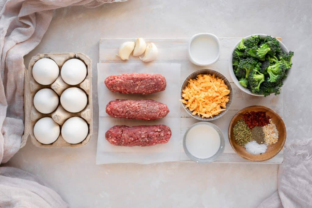 ingredients to make keto breakfast casserole