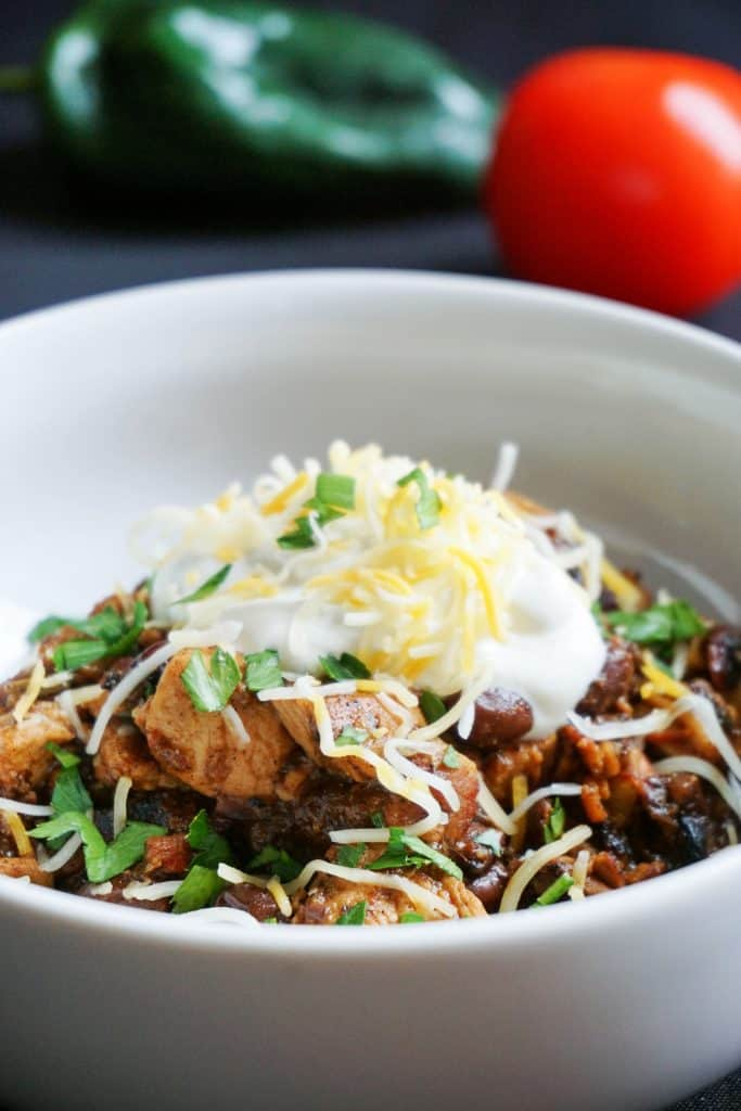 Our Low Carb keto Chili uses chicken and bacon to create a flavorful, hearty go to dinner for any night of the week!