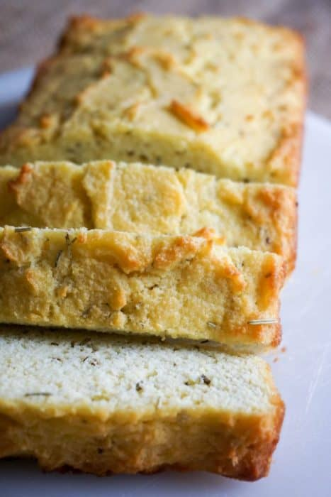 Make our Rosemary and Garlic Coconut Flour Bread for your next family dinner as a low carb, keto replacement to dinner rolls!