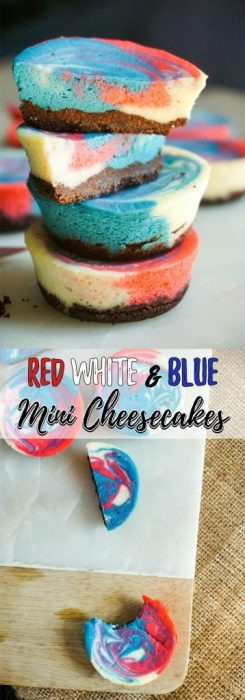 This Fourth of July impress your friends and family with these low carb, keto, and festive, mini cheesecake bites!